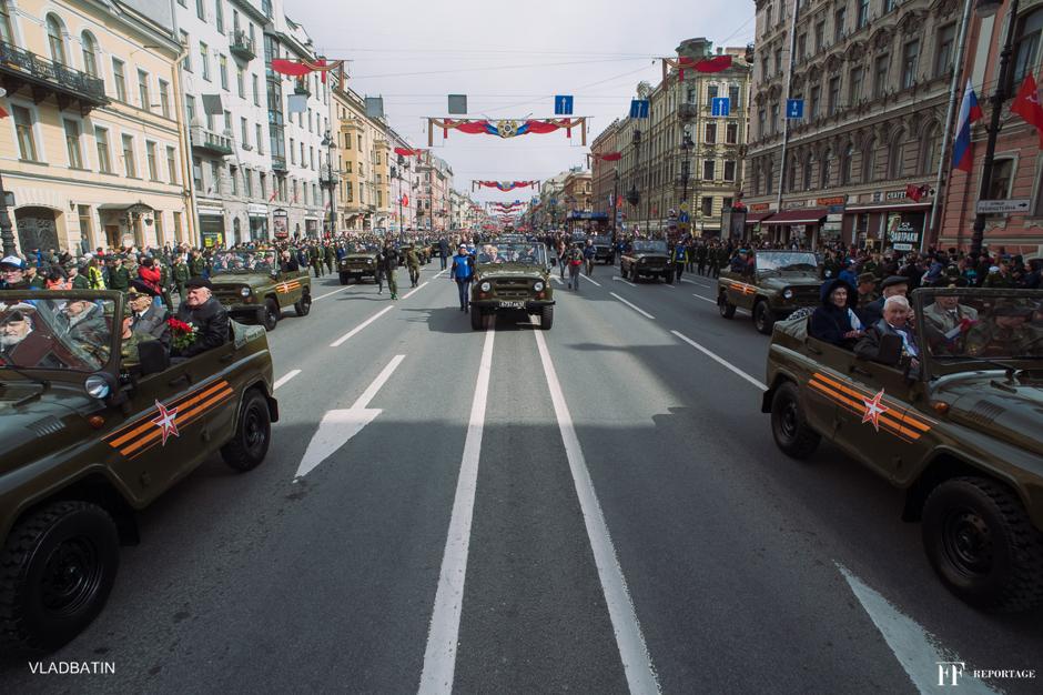 День великой победы, Санкт Петербург, Невский Проспект.