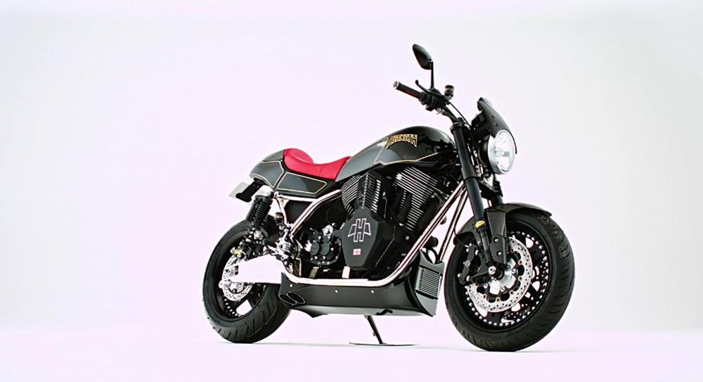 Заряженный мотоцикл Hesketh Valiant SC 2018