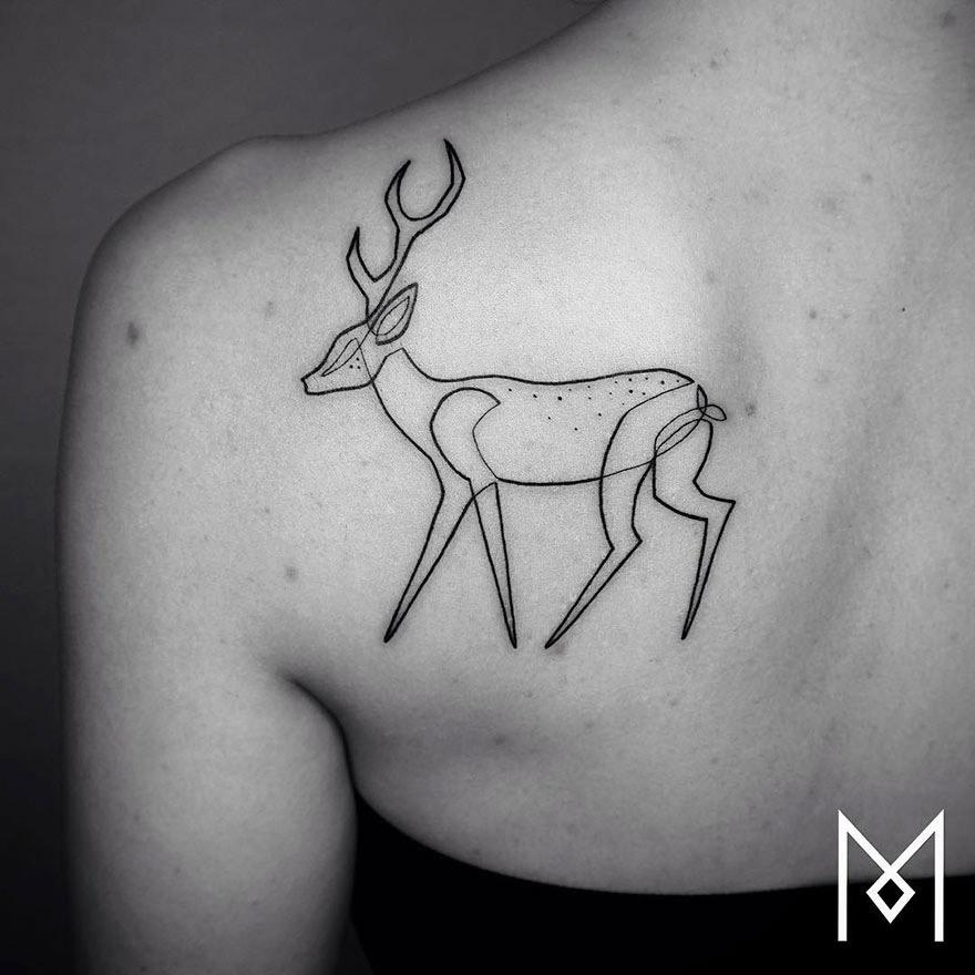 As Tatuagens Minimalistas de Mo Ganji.