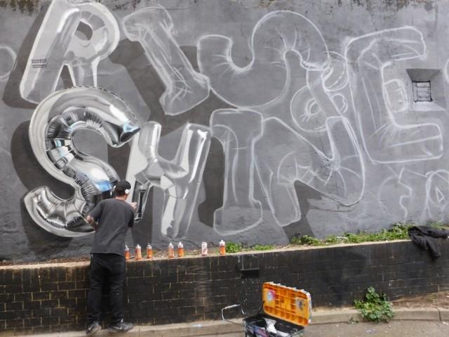 Balloons Lettering Street Art