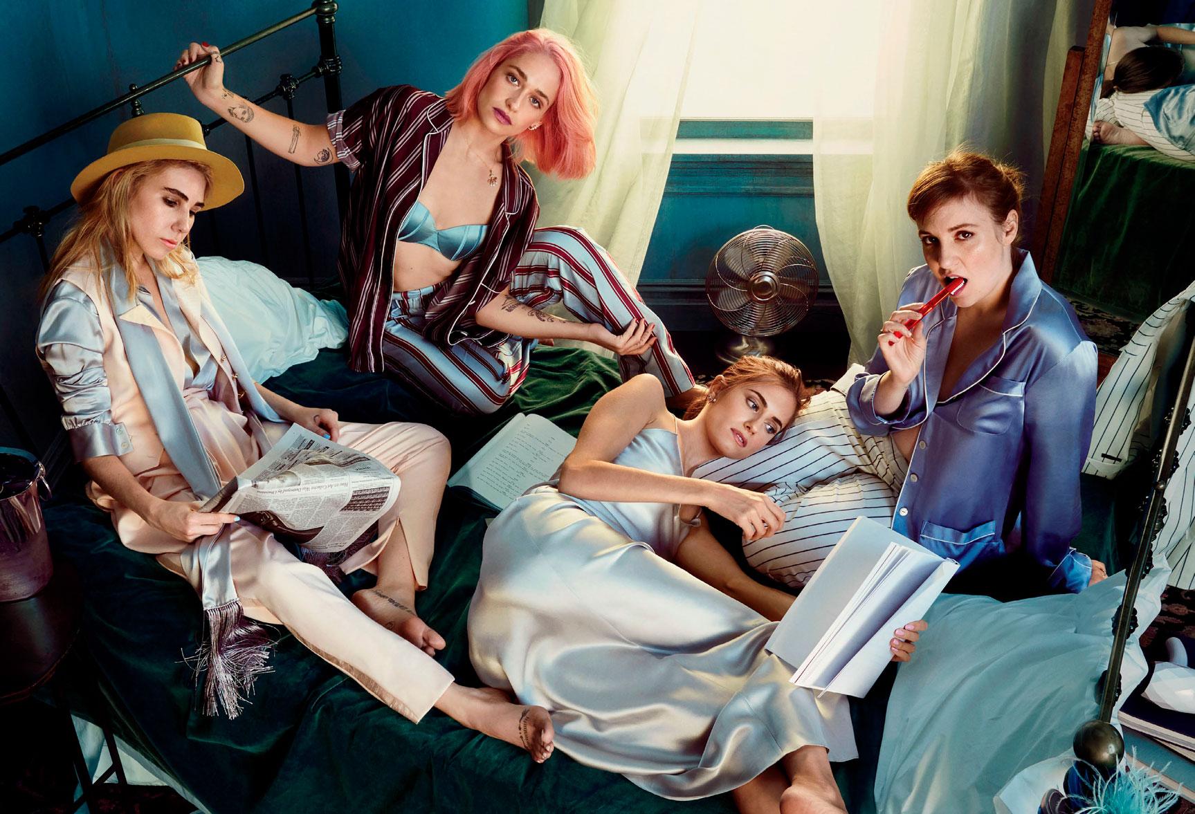 Lena Dunham, Jemima Kirke, Allison Williams, Zosia Mamet / Girls by Emma Summerton - Glamour US february 2017
