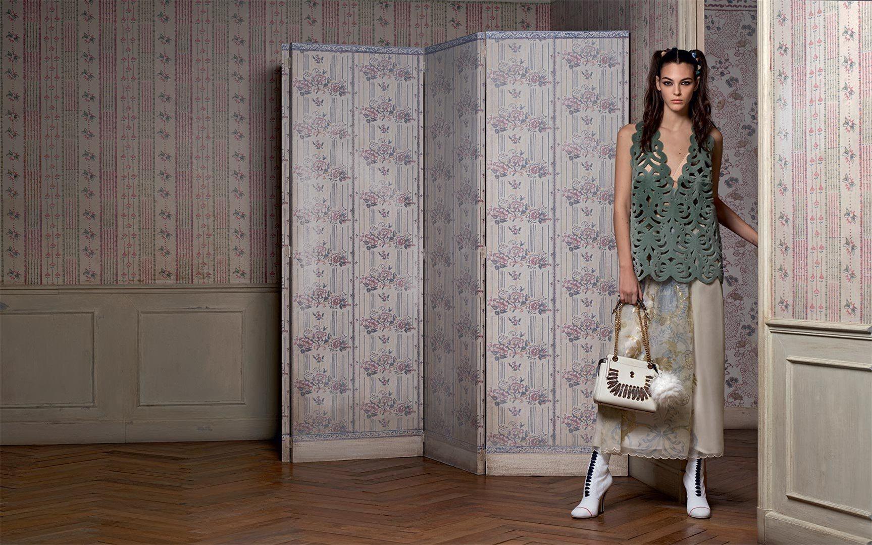 Fendi spring/summer 2017 - Vittoria Ceretti by Karl Lagerfeld