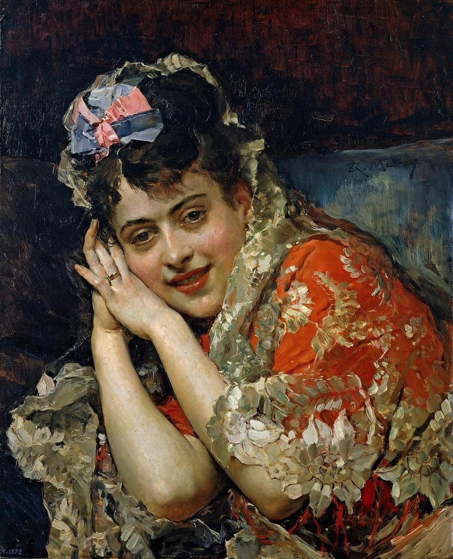 1875 (ок)_Модель Алина Массон в белой мантилье (Aline Masson, con mantilla blanca)_65 х 54_х.,м._Мадрид, музей Прадо.jpg