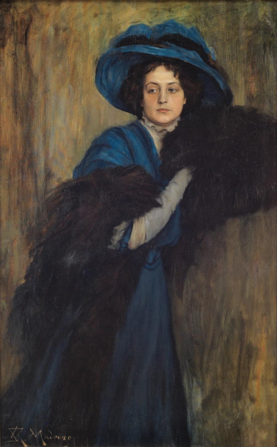 1897-1905_Портрет дамы в синем (Portrait of a Lady in Blue)_140.5 х 88.5_х.,м._Бильбао, Музей изобразительных искусств.jpg