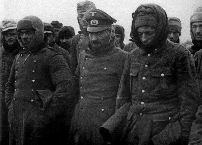 Пленные немцы, блокада Ленинграда