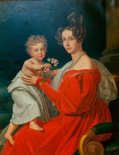 Kaiser Franz Joseph mit Mutter / Stieler -  - L'empereur Francois Joseph avec sa mere