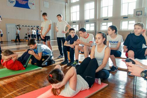 Президентские игры 2016. Силовые упражнения. 7-8 классы в 93 школе