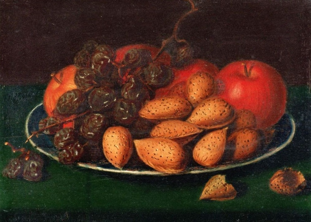 Рафаэль Пил. Фрукты, орехи и виноград. 1818