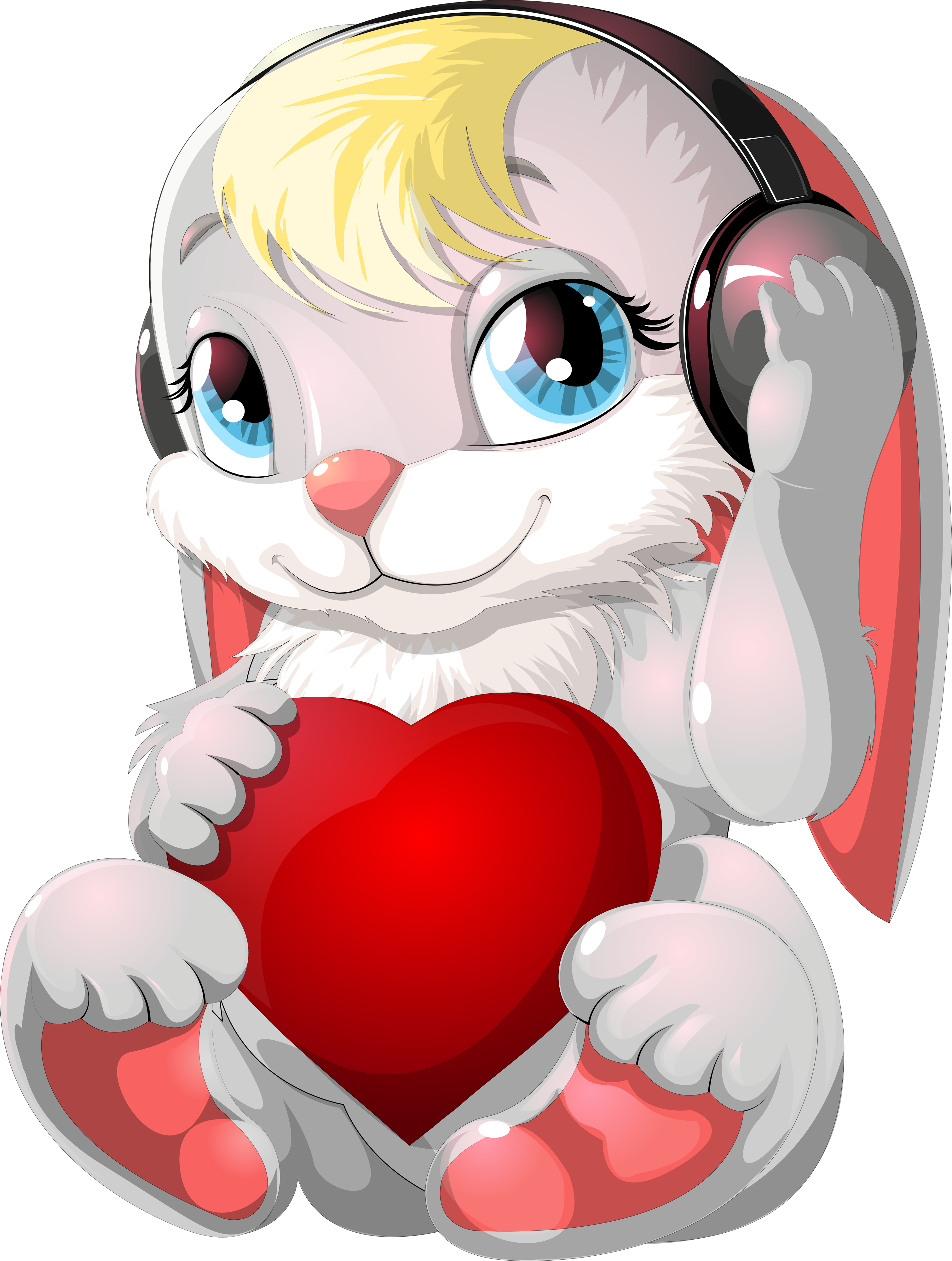 зайчиков картинки с сердечками