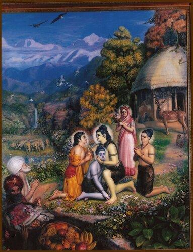 Сита-Рама-Лакшмана-Бхарата-Шатругна (Первый год изгнания Рамы)