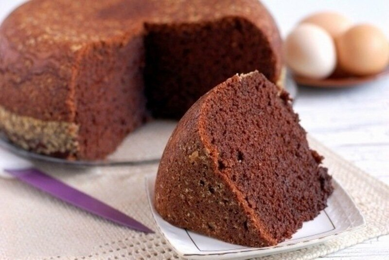 Шоколадный бисквит по домашнему