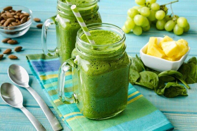 Рецепты зелёных смузи для очищения организма
