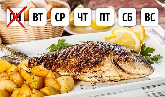 © depositphotos  Пословам Энтони Бурдена, большинство ресторанов покупают рыбу накануне выход