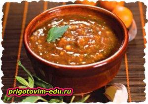 Соус фруктовый - кизиловый или сливовый