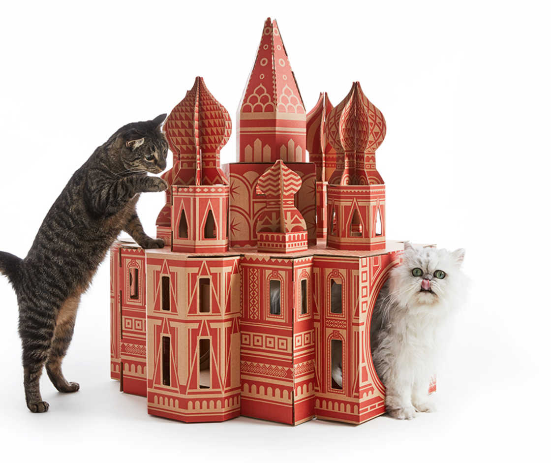 Offer a famous monument to your cat