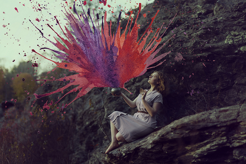 Photographs and Watercolors Merge in Surreal Paintings by Aliza Razell (8 pics)