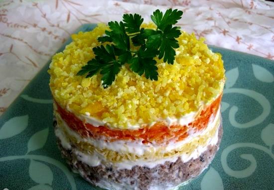 Рецеп салата мимоза с фото