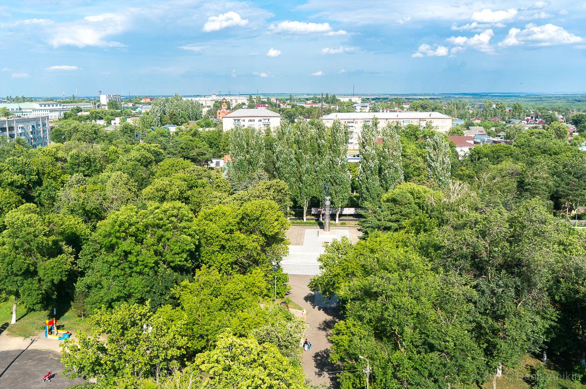 Аткарск городской парк с высоты аэросъёмка фото 2