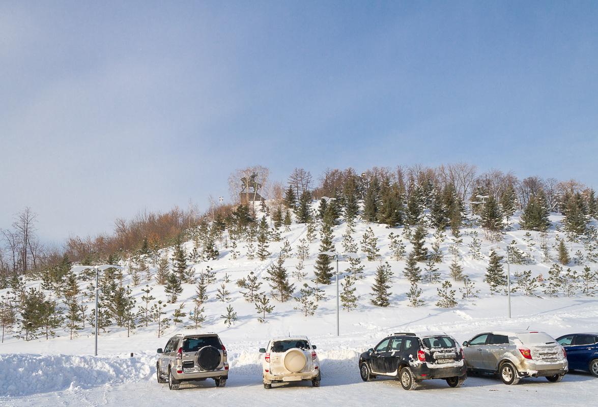 Парк Ватан Уфа зима фото 1