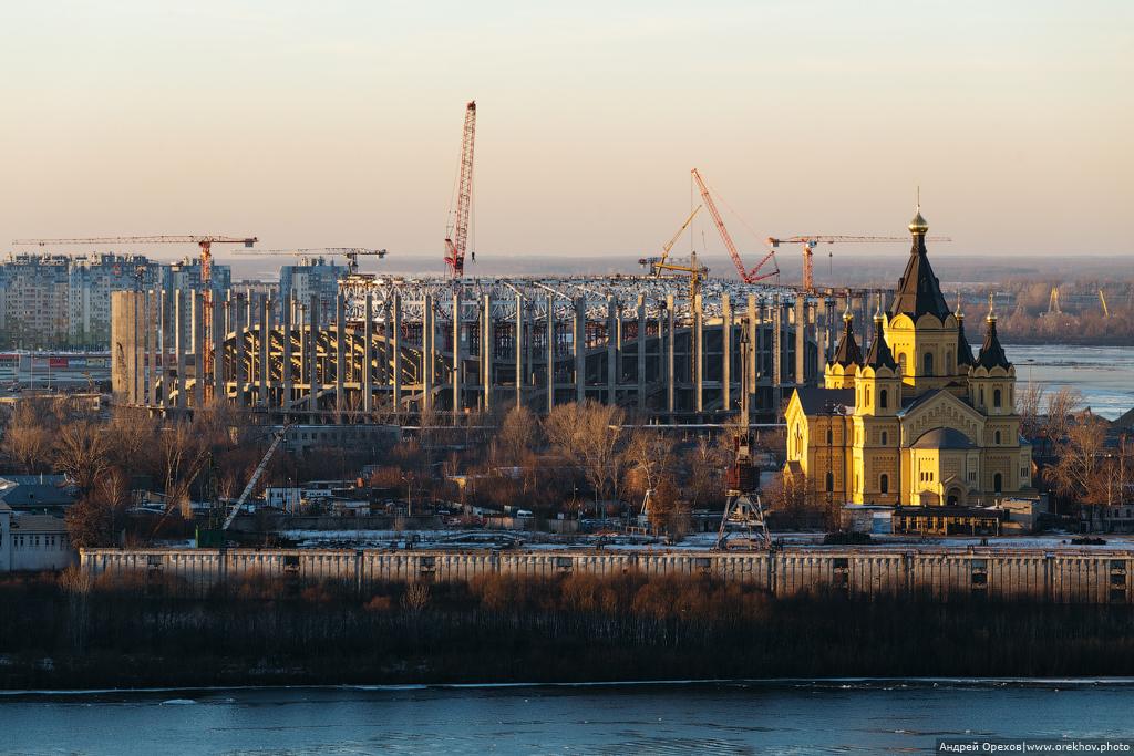 Строительство стадиона к ЧМ-2018 в Нижнем Новгороде