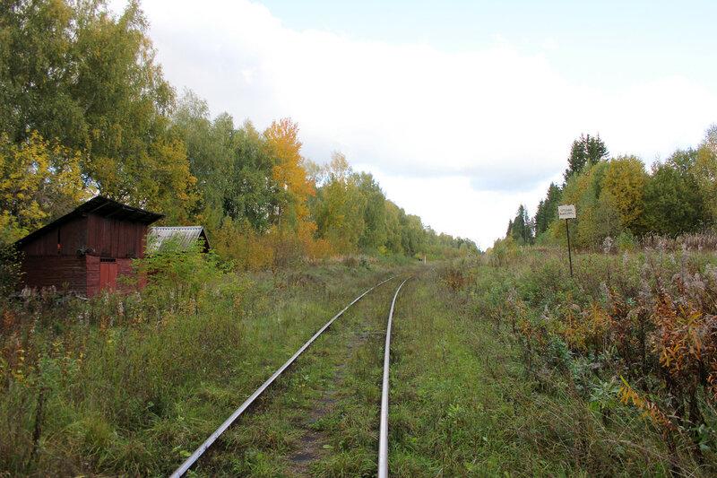 Платформа 358 км Ивановские казармы перегона Овинище-2 - Весьегонск и здания
