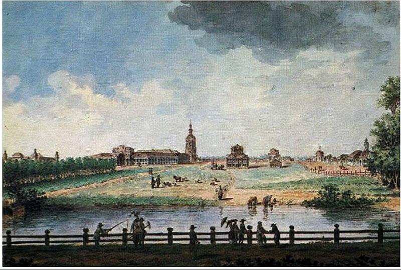 Балтазар Де Ла Траверс, 1790-е годы. Вид имения Петровско-Разумовского.jpg