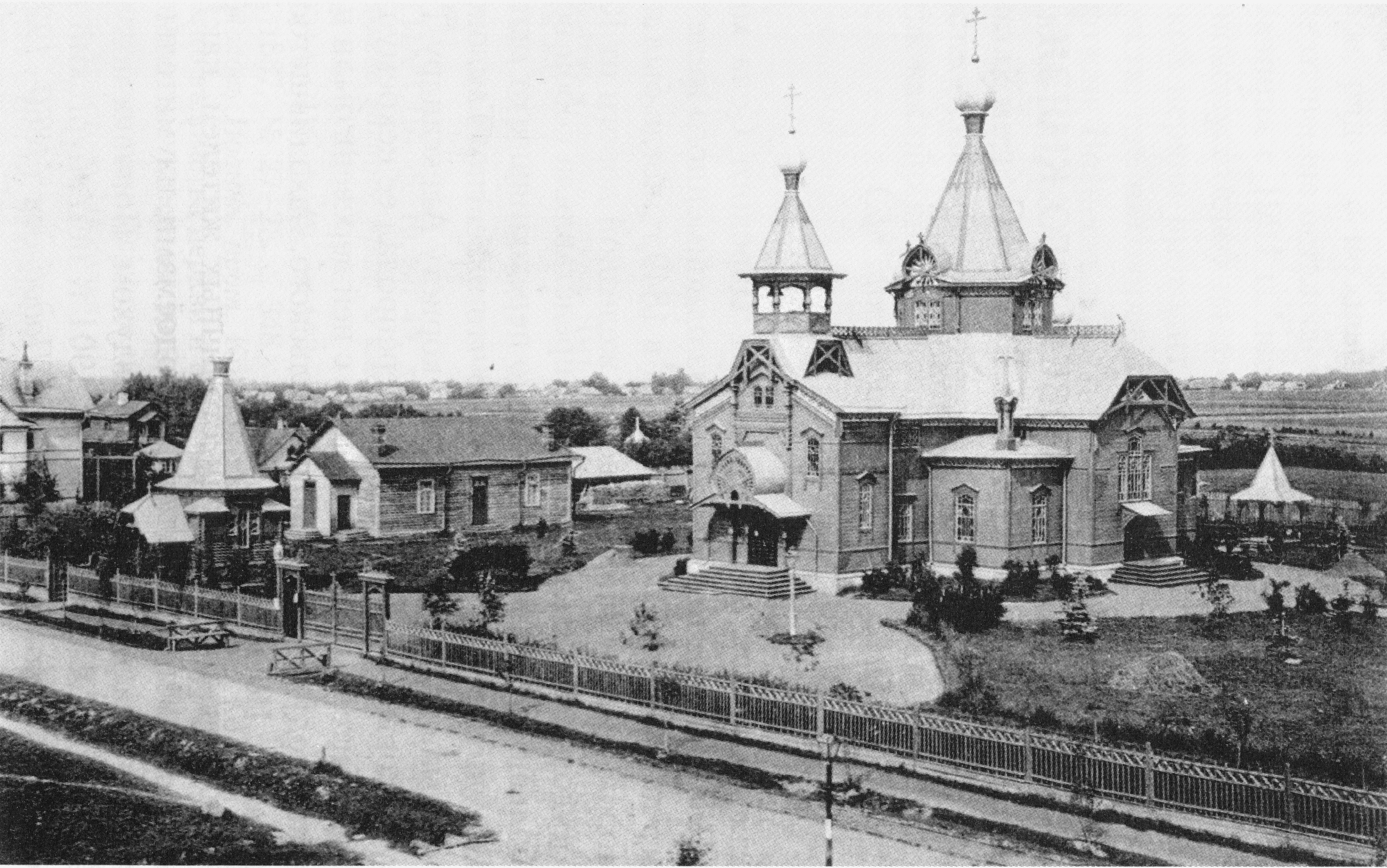 Подобедовка. Церковь Александра Невского и часовня Николая Чудотворца