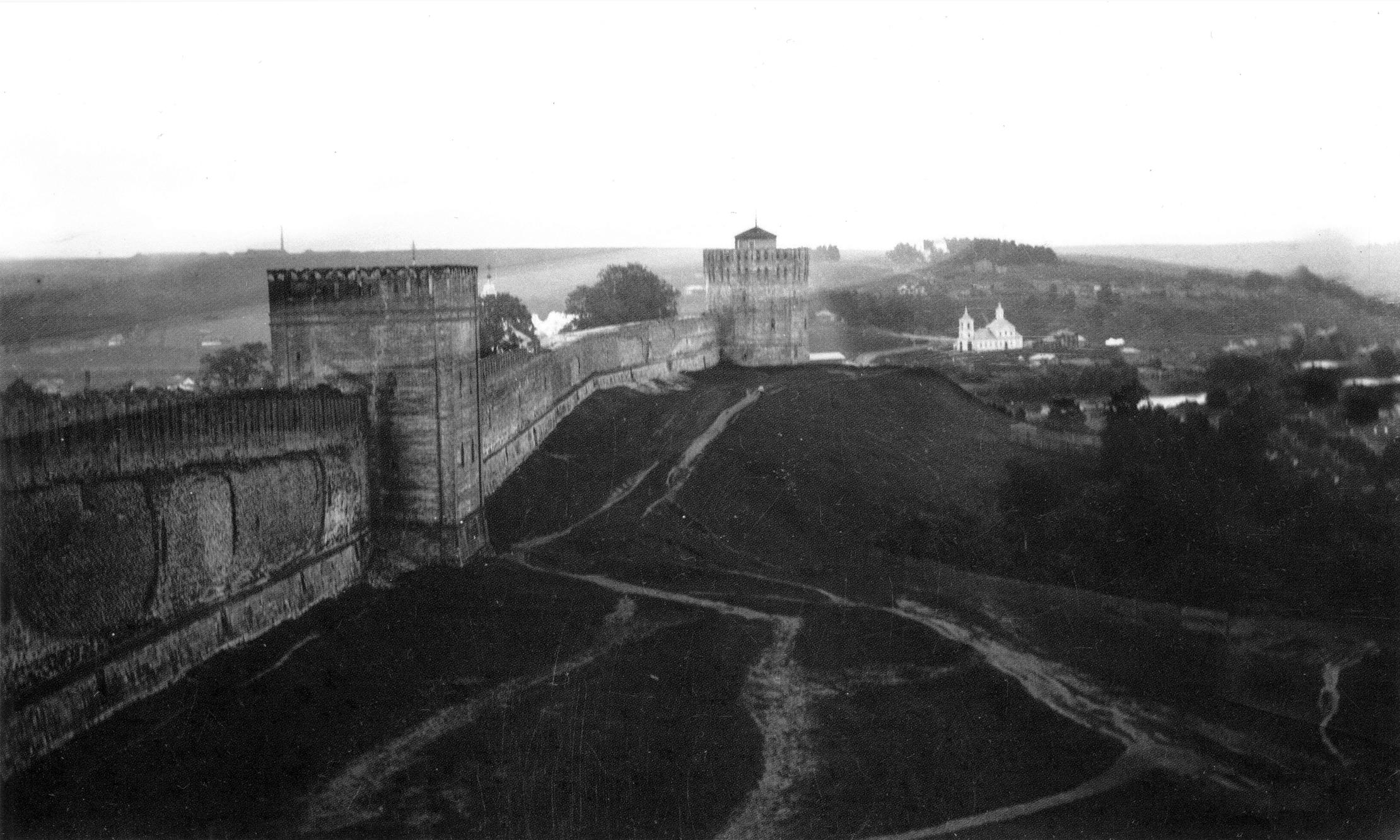 Башни Позднякова, Веселуха и Крестовоздвиженская церковь. 1907