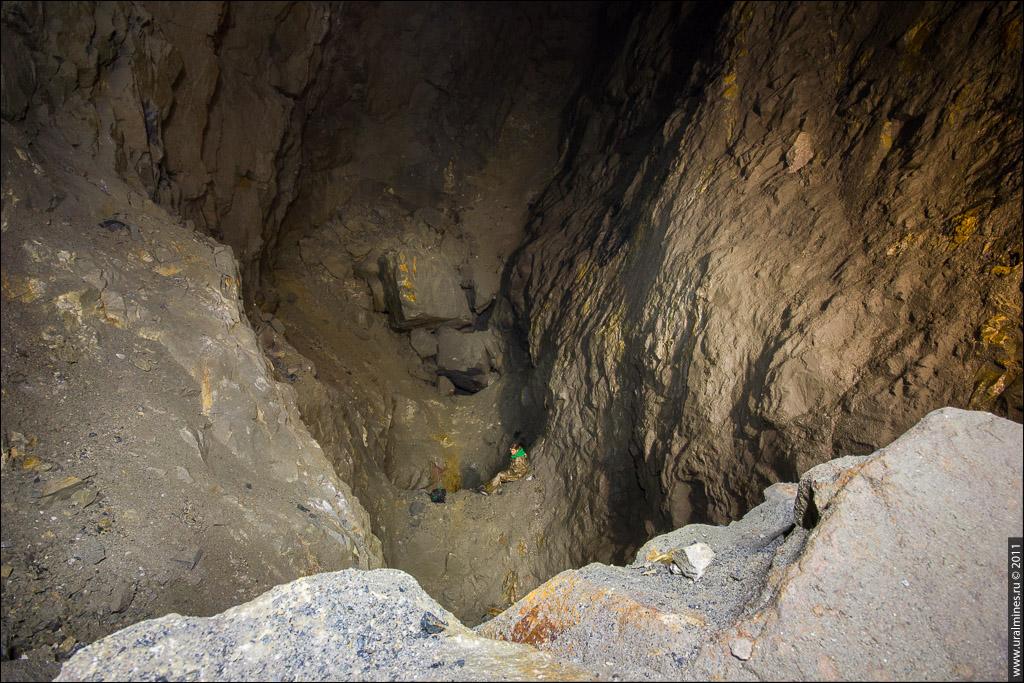 Выработанный блок в шахте