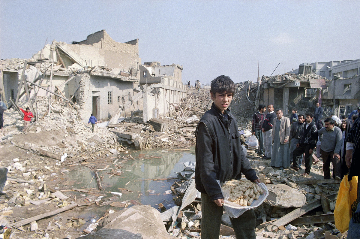Gulf War  Iraq 1991   Baghdad  Destruction