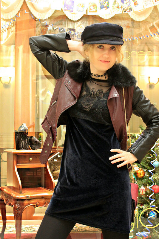 Кепка - Zara, Сумочка - Zarina, Ботинки - Loriblu