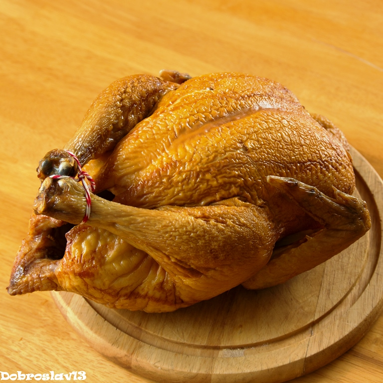 Курица варено-копченая своими руками 69