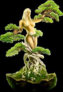 девушка-дерево