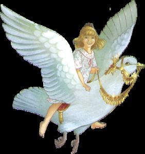 девочка на голубе