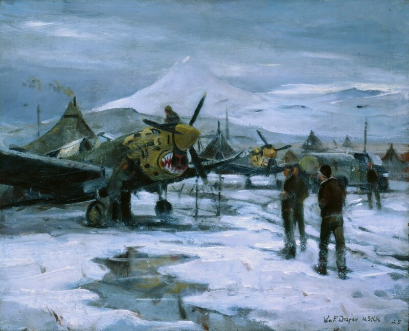 William F. Draper - Tired Tigers - Umnak - Alaska (1942)