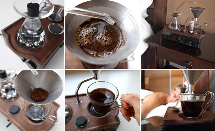 Будильник-кофеварка Bariseur Alarm Clock. Создатели этого необычного во всех отношениях будильника-к