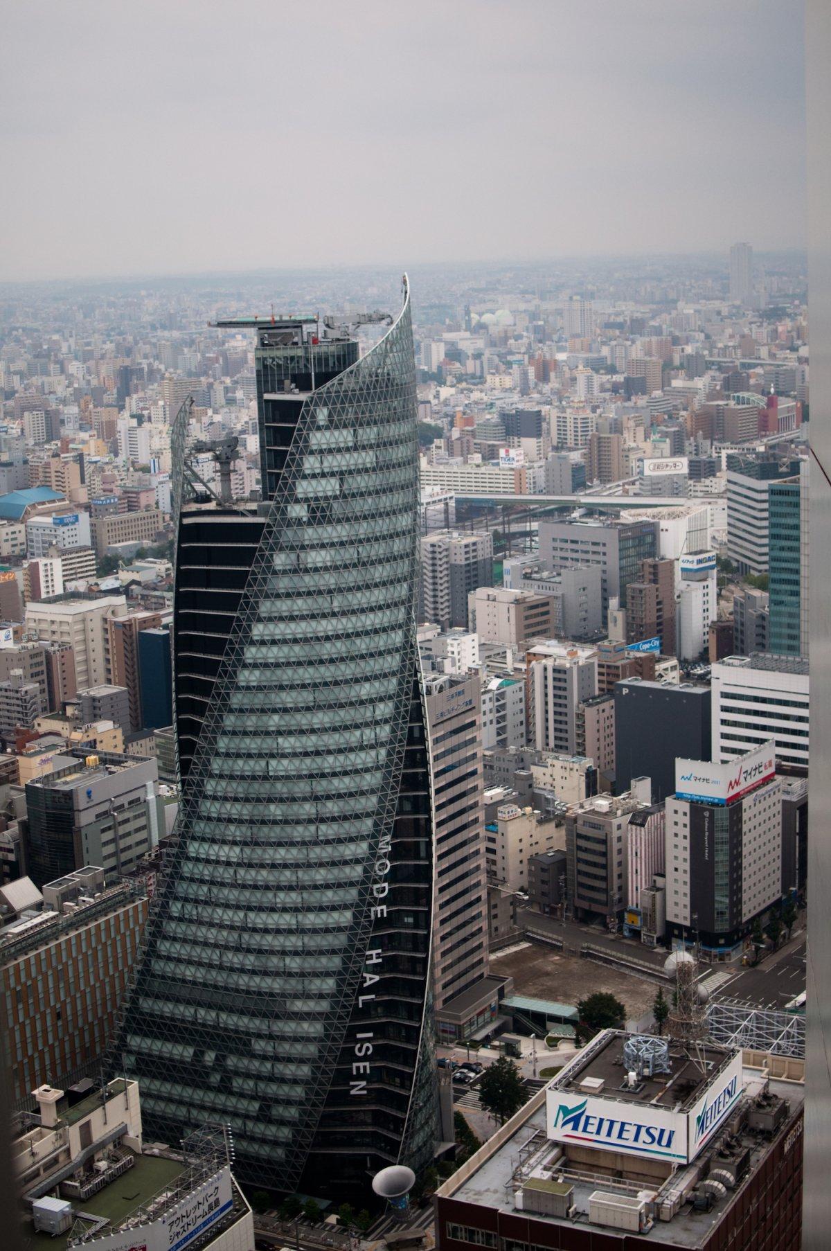 Mode Gakuen Spiral Towers (Nagoya, Япония). Проектирование — Nikken Sekkei. Высота — 170 метров. Год
