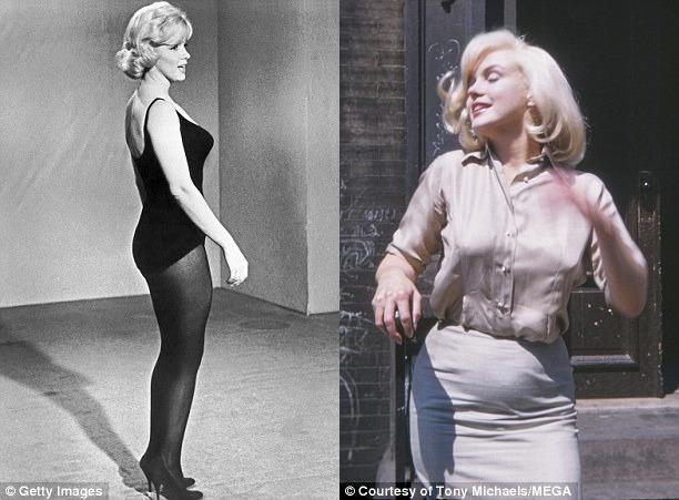 Монро в январе и в июле 1960 года.