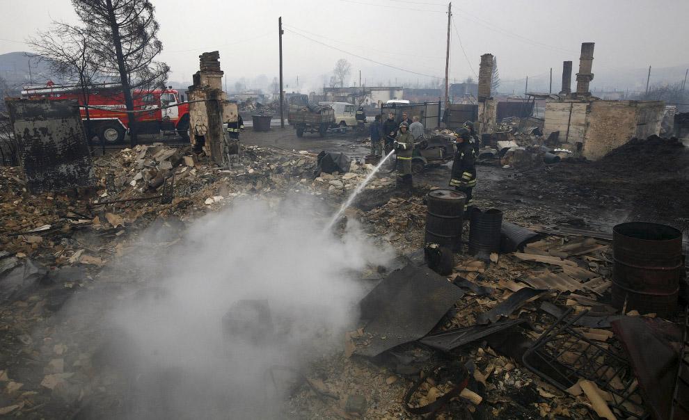 10. С начала сезона в России произошло уже более 800 природных пожаров на площади около 116 тыс