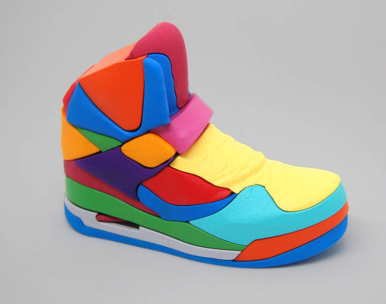NIKE Puzzle - The famous Air Jordan becomes a colorful 3D puzzle