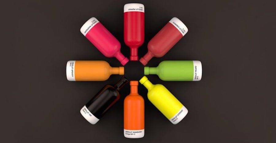 Refreshing Pantone Absolut Bottles