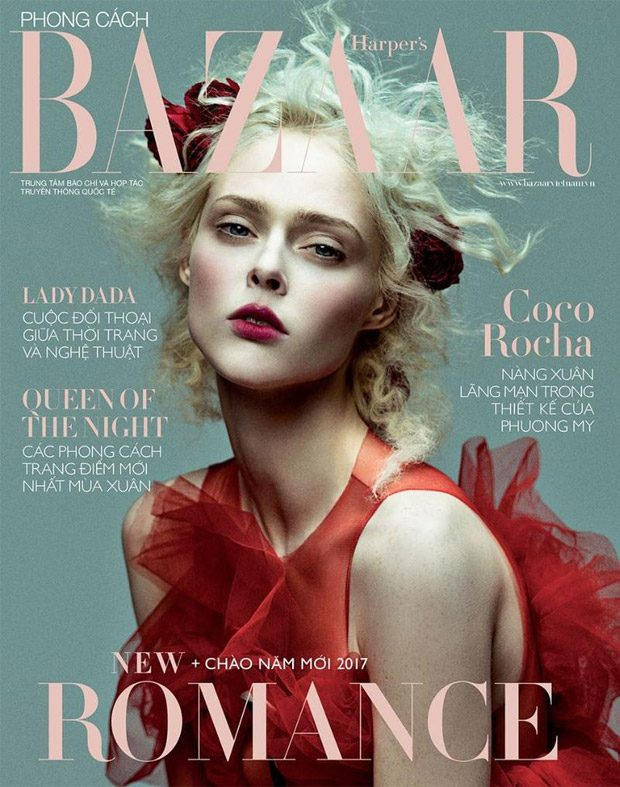 Coco Rocha Dazzles for Bazaar Vietnam January 2017 Cover Story