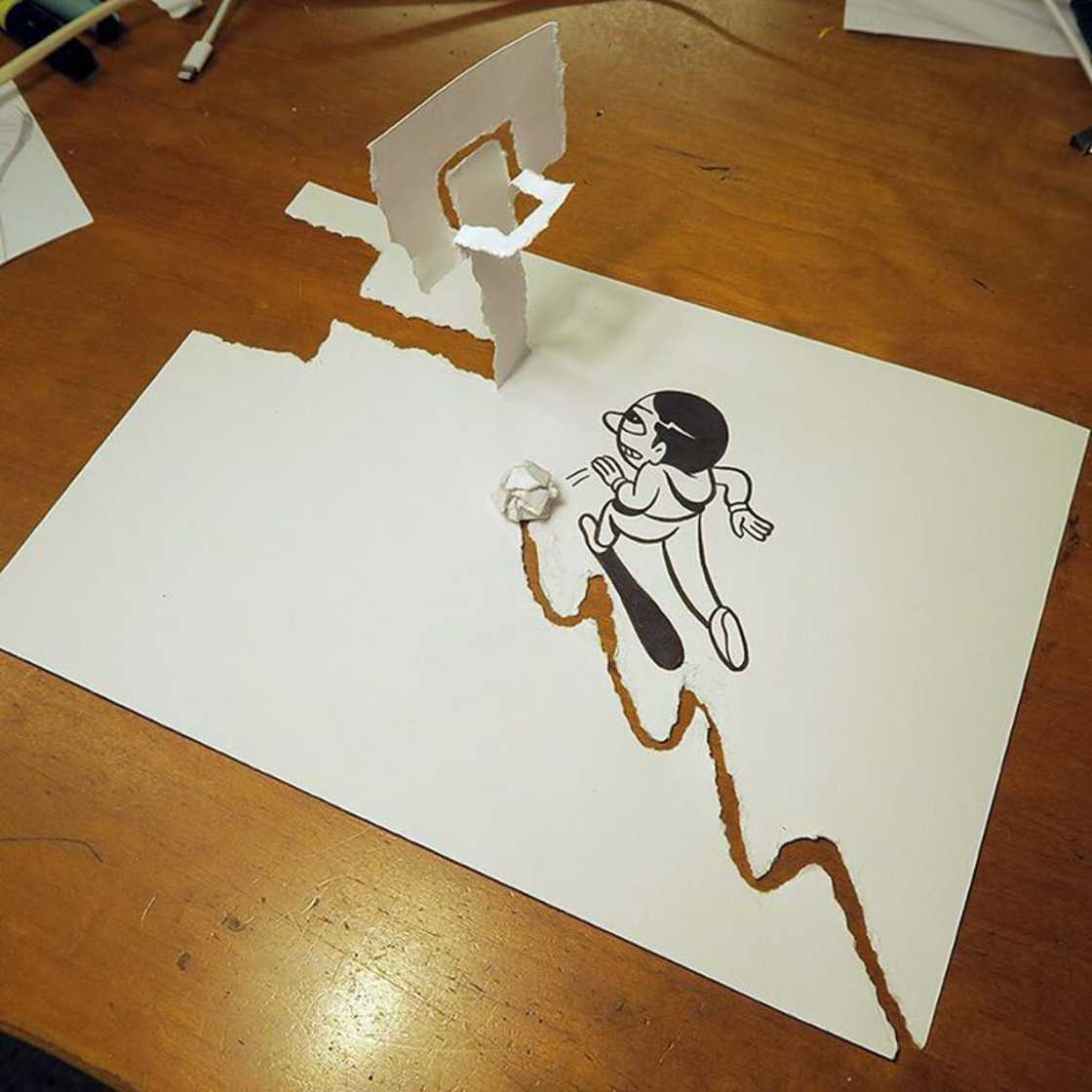 Funny situations created with simple sheets of paper