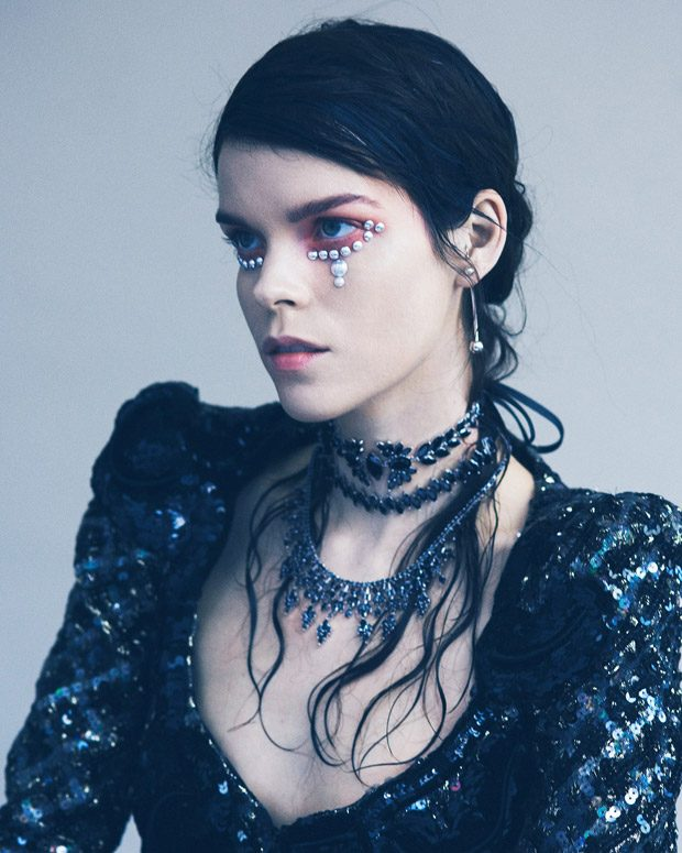 Color of the Night: Meghan Collison Stuns for Vogue Ukraine