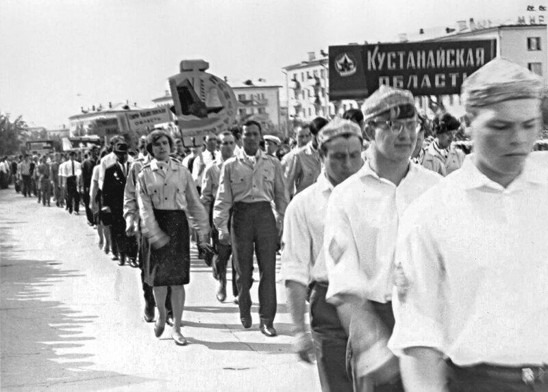 9 мая 1968 года. III Республиканский слёт комсомольцев и молодёжи - победителей Всеказахстанского похода «Дорогами славы отцов».