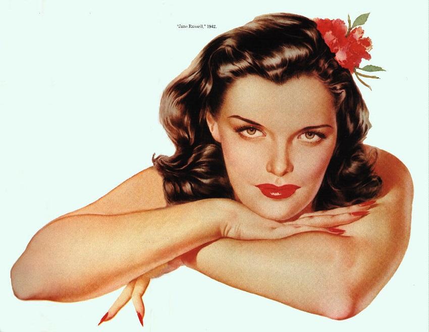 Альберто Варгас-pin-up-Джейн Рассел 1942