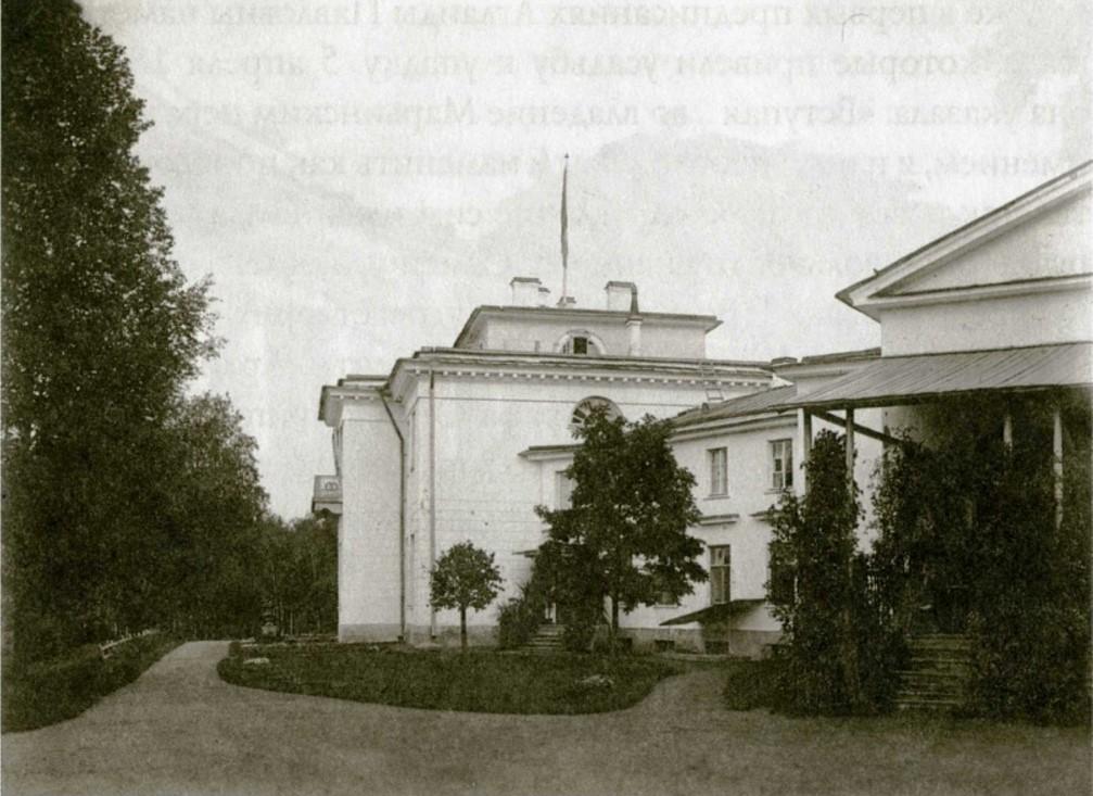 Вид дворца со стороны реки Тосны
