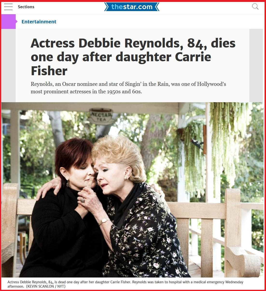 Дебби Рейнольдс и Кэрри Фишер Carrie Frances Fisher(October 21, 1956 – December 27, 2016), Debbie Reynolds (April 1, 1932 – December 28, 2016)