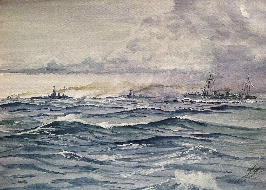 Hell Bent. The Grand Fleet Steaming toward Jutland.