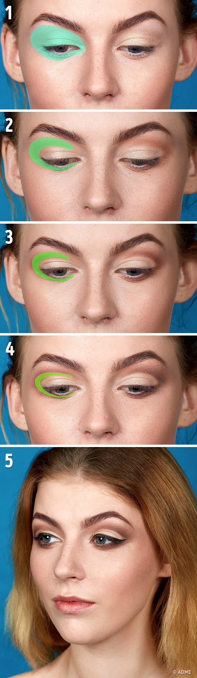 Такой способ нанесения макияжа будет актуален для обладательниц круглых, выпуклых глаз— онвизуальн